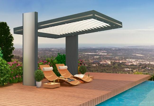 profitez de votre terrasse avec nos pergolas bioclimatiques aubagne. Black Bedroom Furniture Sets. Home Design Ideas